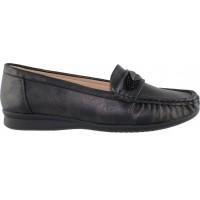Zak Shoes Γυναικεία Μοκασίνια 76/091 Μαύρο
