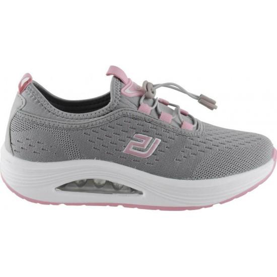 Bulldozer Γυναικεία Sneakers BL206EV Γκρί Ρόζ