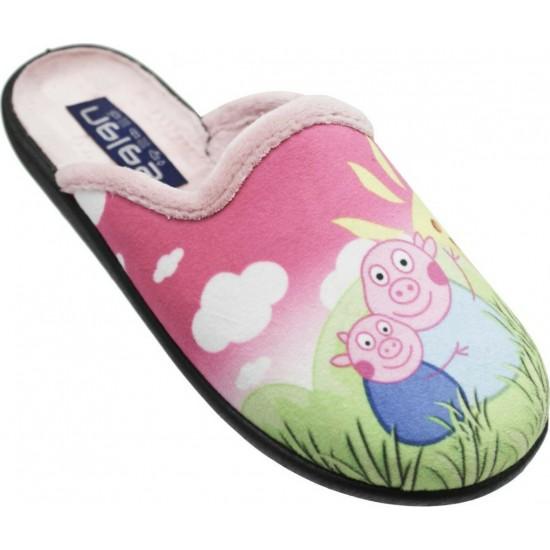 Zak Shoes Παιδικές Παντόφλες Peppa Pig NL1425 Ρόζ