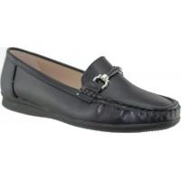 Zak Shoes Γυναικεία Μοκασίνια 76/090 Μαύρο