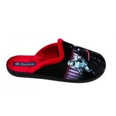 Zak Shoes Παιδικές Παντόφλες Disney Starwars NL1456 Μαύρο